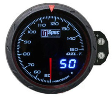 Zegar D1Spec 60mm - Oil Temperature - GRUBYGARAGE - Sklep Tuningowy